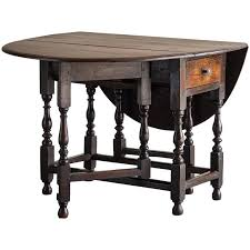 Oak Drop Leaf Table Antique George Iii Oak Drop Leaf Table With Drawer Circa