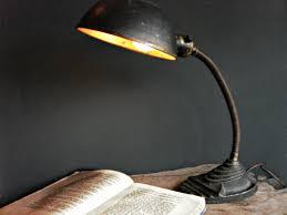 art deco cast iron gooseneck lamp 1930 u0027s eagle desk dresser