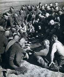 u s paratroopers their hair cut mohawk style are briefed for