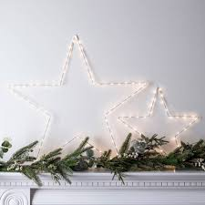 christmas star lights and lighting decorations