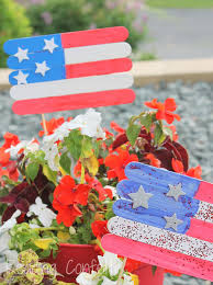 american flag plant marker craft for kids reading confetti