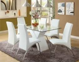 glass dining room table and chairs round glass dining room sets foter regarding table inspirations 9