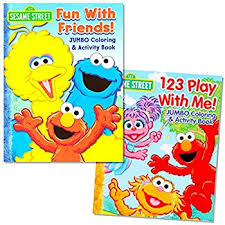 amazon sesame street coloring u0026 activity book cover art
