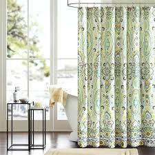 Green Chevron Shower Curtain Seafoam Green Curtains Yellow Grommet Chevron Shower Curtain