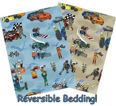 Race Car Crib Bedding Set by Race Car Four Piece Crib Set By The Sticklers