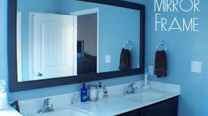 popular bathroom bathroom mirror frames 2 easy to install