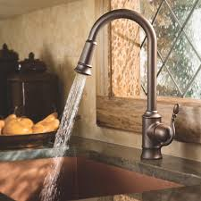interior pull out kohler kitchen faucets made from brass combine pull out kohler kitchen faucets made from brass combine with tile flooring also dark tile counter top for kitchen