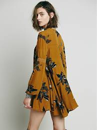 free people womens large floral retro tunic in metallic lyst