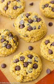 pumpkin chocolate chip cookies deliciously sprinkled