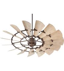 60 Inch Ceiling Fans With Lights Quorum 196015 86 Windmill 60 Inch Bronze With Weathered Oak
