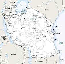 Tanzania Map Vector Map Of Tanzania Political One Stop Map