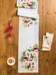 Kitchen Table Runners by Peony Watercolor Table Runner Linens U0026 Kitchen Placemats