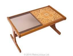 G Plan Coffee Table Teak - g plan coffee table glass ceramic tile top eames era retro