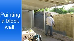 painting exterior cinder block wall youtube