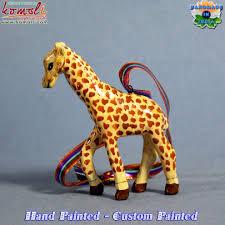 giraffe paper mache hand made animal wholesale christmas