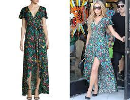 paris hilton u0027s alice olivia adrianna floral print maxi dress