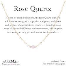 gold rose quartz necklace images Maemae jewelry genuine stone minimal rose quartz necklace jpg