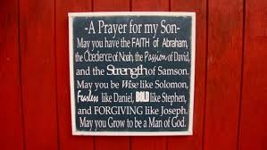 Bible Verses For The Home Decor Prayer For My Son Personalized Wood Sign Bible Verse Wooden