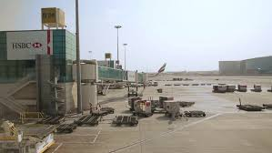 ufa russia 05 06 2016 ufa russia april 16 landing lights ufa international airport