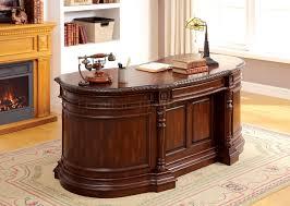 cm dk6252od oval office desk in cherry w options