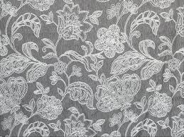 gray u0026 ivory floral curtain fabric by the yard upholstery fabric