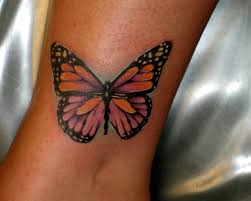 butterfly tattoos butterfly ankle for