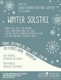 winter solstice celebration aldo leopold nature center this would