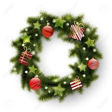 Outdoor Christmas Decorations Lighted Presents by Christmas Wreath Decorated With Balls Stars And Presents Royalty