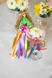 table top flower arrangements decor for the tabletop flower arrangement doll in a green dress