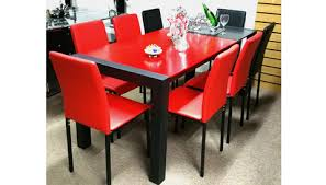 cheap red dining table and chairs red dining sets bighouse furniture