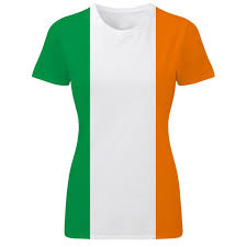 Green White Orange Flag Irish Tricolour Ireland Flag St Patrick U0027s Day Patriotic Womens T