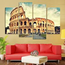 Roman Home Decor Aliexpress Com Buy 4 Panel Roman Colosseum Modern Home Decor