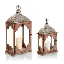 home decor lanterns pair of large wood u0026 metal indoor outdoor lanterns rustic moroccan