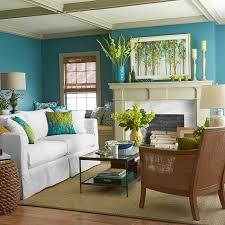 wohnzimmer farbgestaltung farbgestaltung wohnzimmer blaue wände weißes sofa sisalteppich