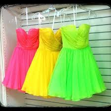 neon party dresses for me and my besties my party sweet