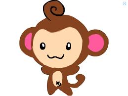 monkey drawing on clipart library cartoon monkey polar bear