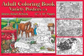 farm animal coloring book coloring book variety posters 1 stress relief activity