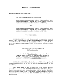 Sample Vendor Contract Template 9 Deed Of Absolute Sale A Sample Deed Civil Law Legal System
