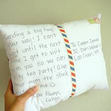 engraved pillows personalize a postcard pillow distance gift decorative
