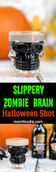 slippery zombie brain halloween shots easy halloween party