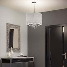 suspended light fixture with glass bubble pendants round