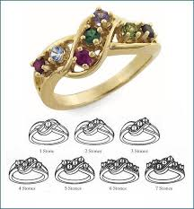 7 mothers ring o 1 to 7 stones s ring