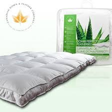 bed pillow toppers mattress toppers canadian down feather company