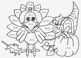 kindergarten turkey math coloring sheets bltidm thanksgiving