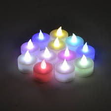 fake tea light candles battery powered flameless color changing led tealight candles