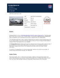 prestige mercedes paramus nj used 2009 mercedes c300 for sale in paramus nj
