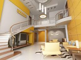 Yellow Livingroom Futuristic Yellow Living Room Paint Color With White Staircase And