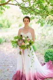 ombré wedding dress bridal skirt cordelia dip dyed wedding dress ombre wedding dress