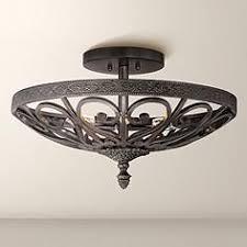 Iron Ceiling Light Iron Semi Flush Mount To Ceiling Lights Ls Plus