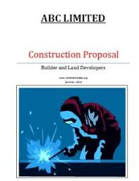 residential construction proposal template free word templates